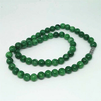 8mm Natural A JADE JADEITE Bead Beads Necklace Bride jewelry