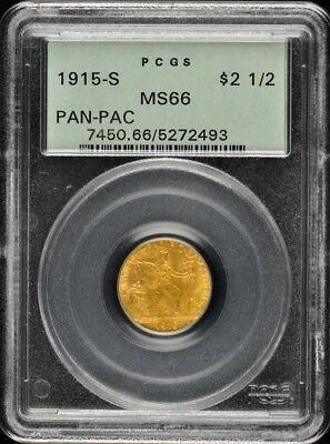 PANAMA PACIFIC 1915-S $2.50 Gold Commemorative PCGS MS66