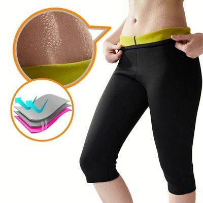 Damen Mieder Sweat Sauna Neoprene Hose Body Shapers Slimming Gym Leggings Pants