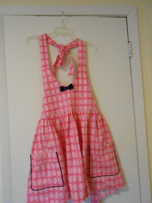 Women's Apron Cute Pink Diamond Bib Type Bedroom Fun