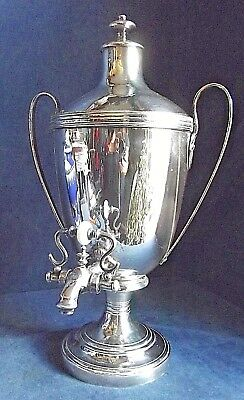 "Superb LARGE 17"" ~ GEORGIAN Styled ~ SILVER Plated ~ TEA URN ~ c1890"