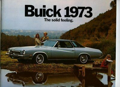 Automobile advertising brochure/booklet, 1973 Buick, 29 pages, m27291