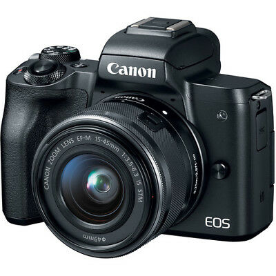 BRAND NEW Canon EOS M50 Mirrorless Digital Camera with 15-45mm Lens BLACK