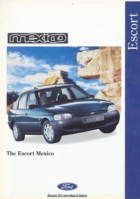 Catalogue Voiture Pub. Auto Ad.car Ford Escort Mexico 1995 En Anglais