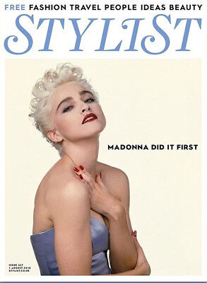 Madonna At 60 Special Tribute UK Stylist Magazine August 2018 cover clippings