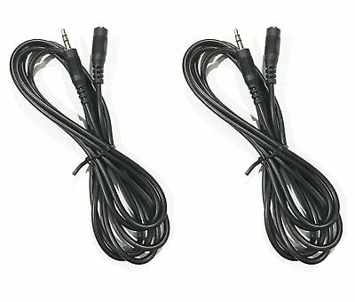 (2/pack) 3.5mm Male to Female Stereo Audio Extension Cable, 6ft, 12ft, or 25ft