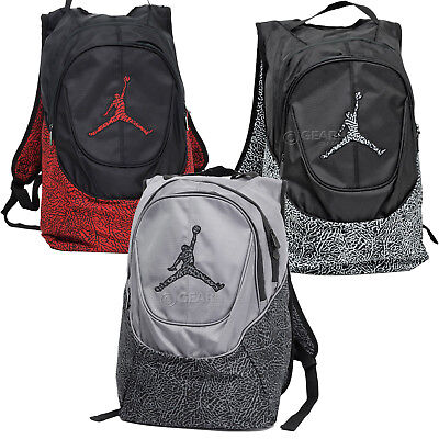 New Nike Air Jordan Jumpman Laptop Backpack Bookbag Mens Adult Gray Red Black