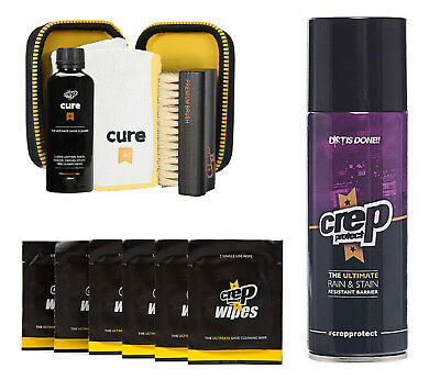 Crep Protect Cure Kit, Ultimate Rain and Stain Shoe Spray and 6 Wipes Sneaker Ki