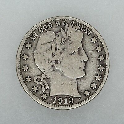 1913 Barber Half Dollar 50C Vg Very Good (5701)