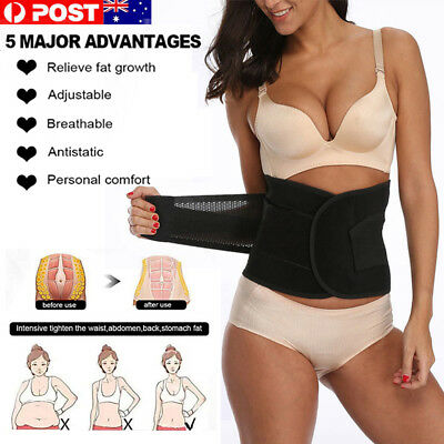 Postpartum Corset Recovery Belly Waist Tummy Belt Shaper Body Support Bands AU