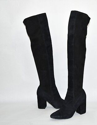 937c32f3d9a COLE HAAN DARLA Over-the-Knee Boot Black Suede Size 9 B w06087 OTK ...