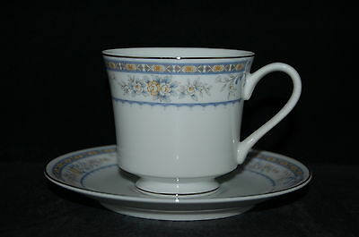 SET of 3 - Fine China of Japan Garden Cup and Saucer