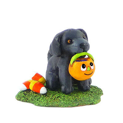 PUPPY CHOW by Wee Forest Folk, WFF# M-357a, BLACK DOG Limited Edition 2014