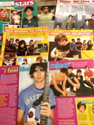 All-American Rejects, Lot of FIVE Full and Two Page Clippings