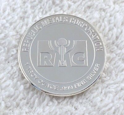 Republic Metals Corporation (RMC) 1 Troy Ounce .999 Fine Silver Round