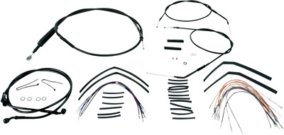 Burly Brand - B30-1002 - Extended Cable/Brake Line Kit For 14In. Ape Handlebars~