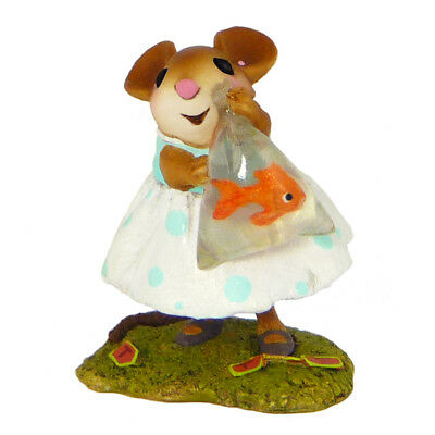 PRIZE CATCH by Wee Forest Folk, WFF# M-468, Mouse with Fish