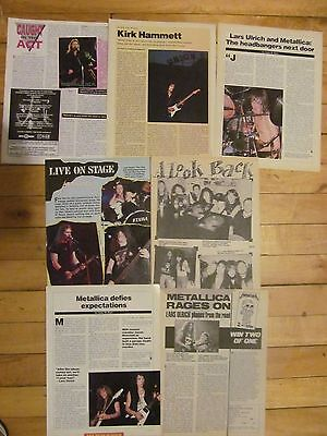 Metallica, Lot of SEVEN Full Page Vintage Clippings
