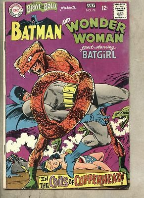Brave And The Bold #78-1968 fn- 5.5 Batgirl Wonder Woman Batman 1st Copperhead