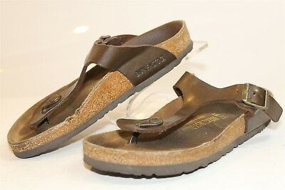 856673e12b6a3 Birkenstock Germany Made Gizeh Womens 6 37 Bronze T-Strap Sandals Flats  Shoes pp