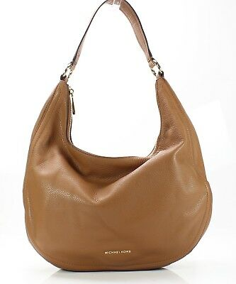 46b4daa9026a Michael Kors NEW Acorn Beige Pebble Leather Lydia Hobo Shoulder Bag $298-  #019