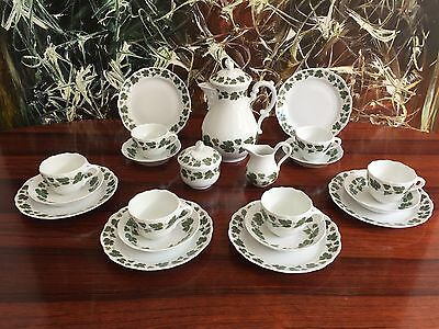 Hutschenreuther Vine Leaves - Noble 21 Piece Coffee Service for 6 Persons