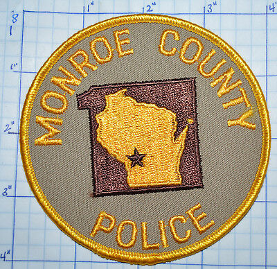 WISCONSIN, MONROE COUNTY Police Sheriff's Dept Patch