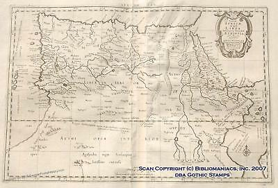 Mercator Libya Ethiopia Africa Nile 1695 Antique Map 32530