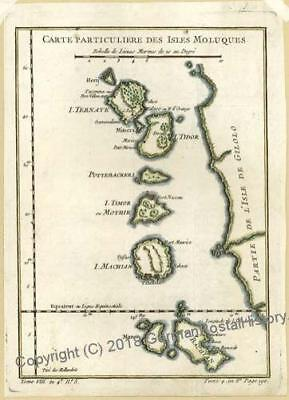 Moluccas Spice Islands 1752 Antique Map 34272