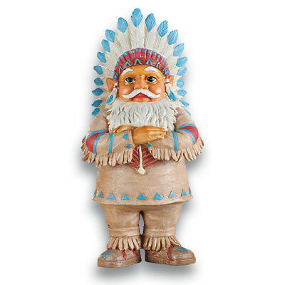 Native American Garden Gnomes Outdoor Southwestern Decor, by Collections Etc