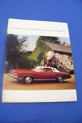1972 GM Annual Stock Report 72 73 Pontiac Buick Chevy Colonnade Cadillac Old GMC