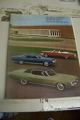 1968 GM Annual Stock Report 68 69 Pontiac Cadillac DeVille Olds Buick Chevy GMC