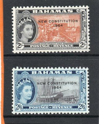 Bahamas QE2 1954-64 New Constitution 2s-2s.6d. sg 239-40 NHM