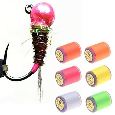1 Roll Fluorescent Thread Fly Fishing 150D 6/0 230m UV Filaments Flies Yarn Tie