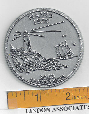 Maine Souvenir State Quarter Magnet   Lighthouse