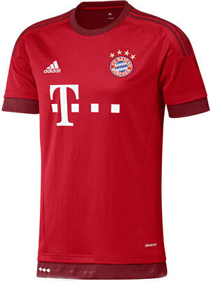 Adidas FC Bayern Munich Home 2015/16 Mens Football Shirt - Red