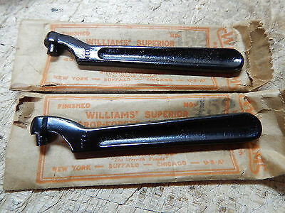 2 New Old Stock Williams No. 452 Fixed Pin Spanner Wrenches Wrench