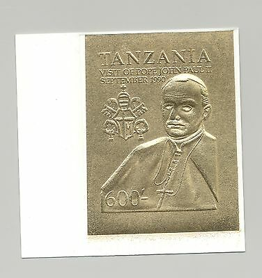 Tanzania 1990 Pope John Paul II 1v Imperf Proof