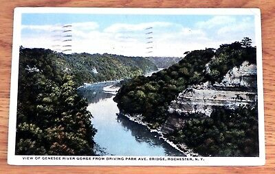 Vintage Postcard w / stamp Genesee River 1915 Rochester NY D76