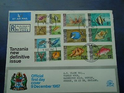 Tanzania 2 First Day Covers - New Definitive Stamps 1967 Plus Additional Values