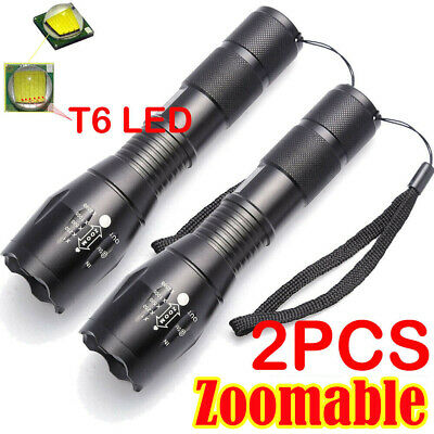 Ultrafire Focus Tactical Torch 50000LM T6 LED Flashlight +18650 Battery +Charger