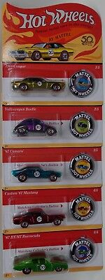 HOT WHEELS 50th Anniversary Originals! REDLINES! Complete Set OF 5 - Case Fresh!
