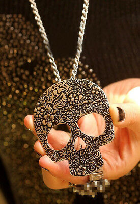 Accessories Ancient bronze skull sweater chain necklace complex Guge Te B4038