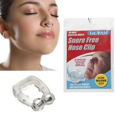 Anti Snore Free Nose Clip Solution Cure Stop Sleep Night Man Women Magnetic Ring