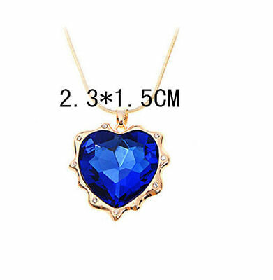 NEW Valentine gift Blue Alloy Crystal Diamante Drop Dangle Earrings For Women