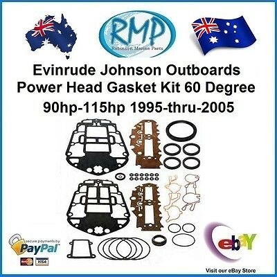 A Brand New Johnson Evinrude 60 Degree 90hp-115hp Powerhead Gasket Kit  437779