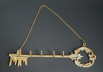 Solid Brass Victorian Antique Key Rack Wall Decor