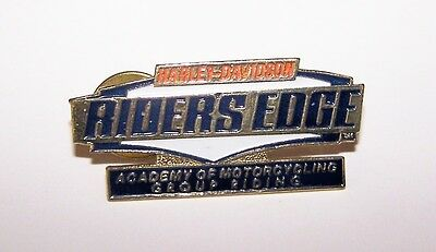 Harley Davidson Riders Edge Academy Of Motorcycles Group Riding Vest Hat Pin