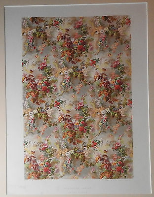 Axminster Carpet Chromolithograph Cosack Centennial 1876 Exhibition Phila Matted