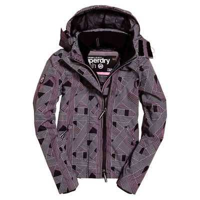Superdry Technical Hooded Print Pop Zip Windcheat Miami Geo , Abrigos y parkas